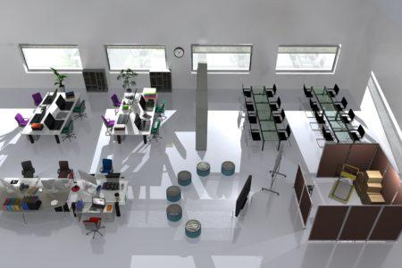 古い事務所の使い勝手の悪いスペースを一新!<br /> 3Dパースで魅せる提案と実行力!