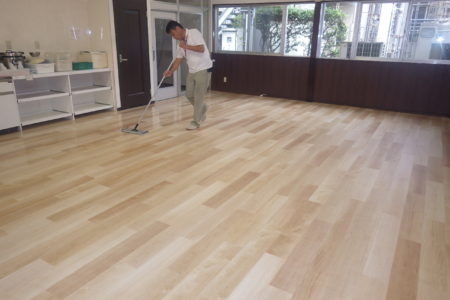 千葉県千葉市美浜区食堂床改修工事